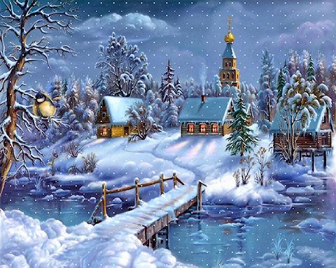 Узоры в снегу